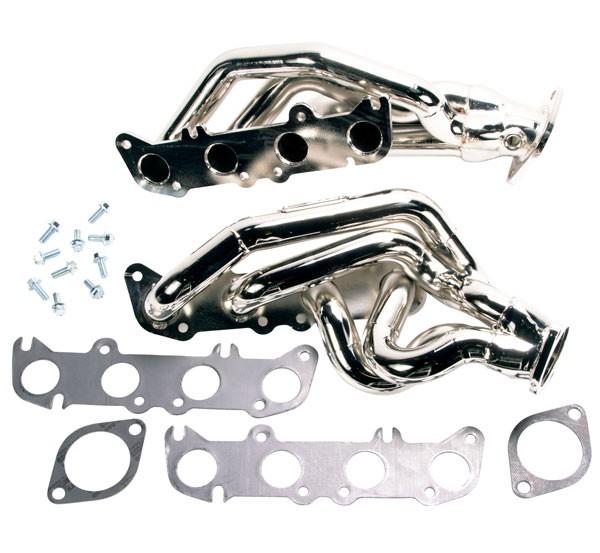 """BBK 1-3/4"""" Tuned Length Shorty Headers - Chrome (11-14 Mustang GT, Boss) 1632"""