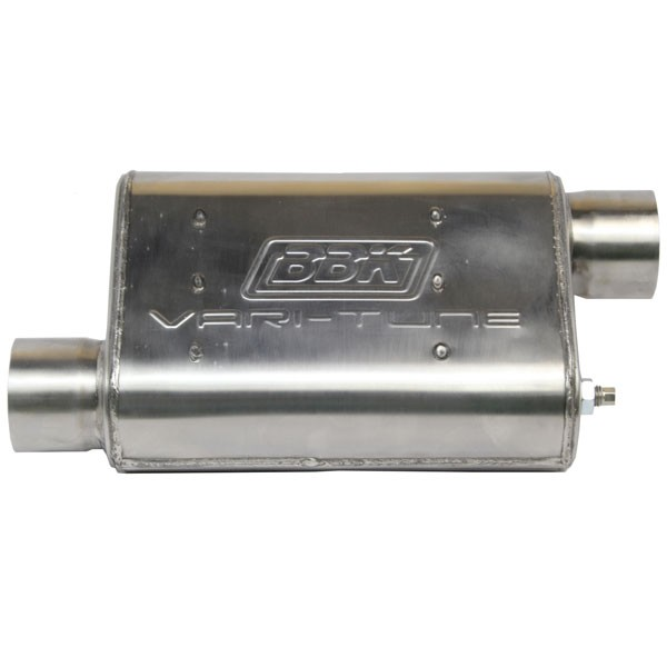 "BBK Varitune Adjustable Muffler - Stainless Steel - 2-3/4"" Offset / Offset 31025"