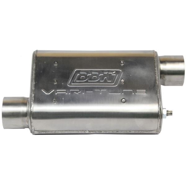 "BBK Varitune Muffler - Stainless Steel - 3"" Offset / Offset"