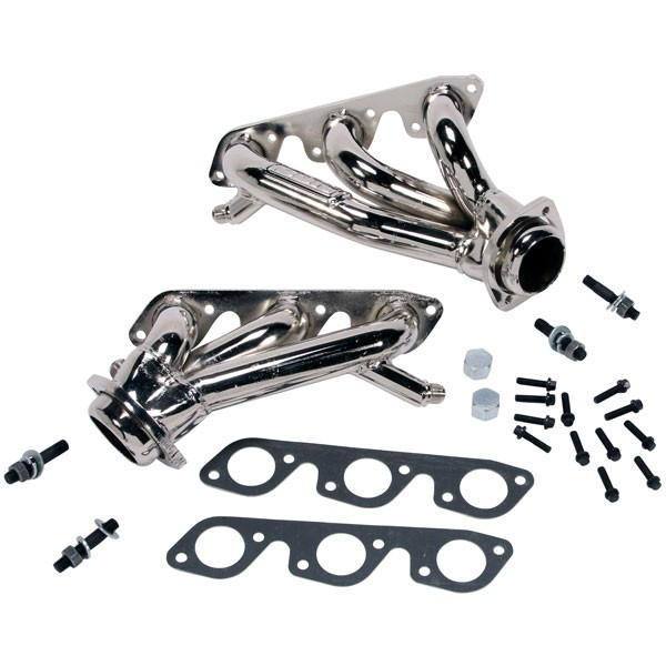 "OPEN BOX BBK 1-5/8"" Shorty Headers - Chrome (99-04 Mustang V6)"