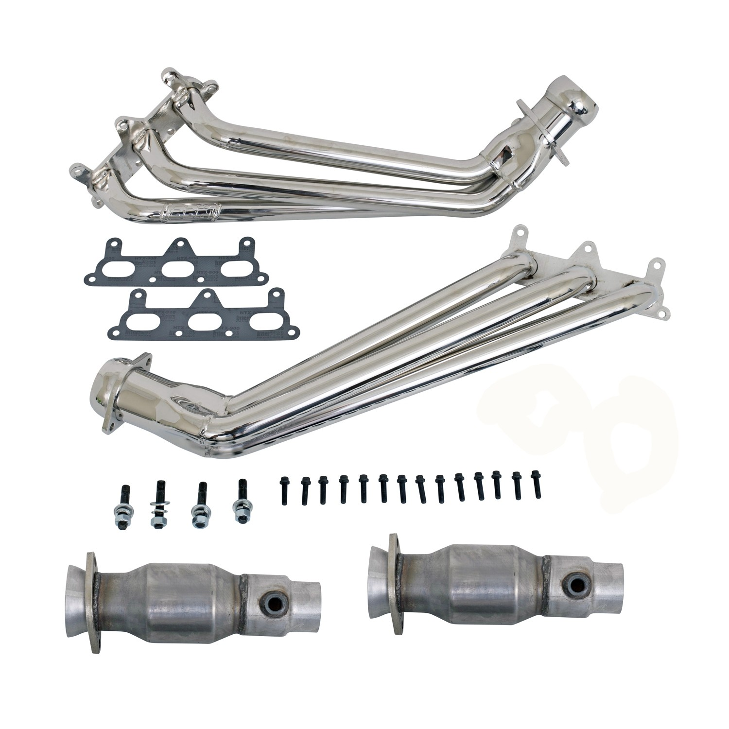 "BBK 1-3/4"" Chrome Long Tube Headers w/ Converters (10-11 Camaro V6)"