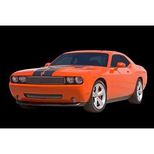 2009-10 Dodge Challenger Carriage Works Billet Front Bumper Grille - Brushed