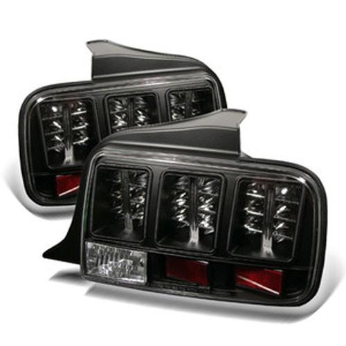 spyder led tail lights black 2005 09 mustang 5003546. Black Bedroom Furniture Sets. Home Design Ideas