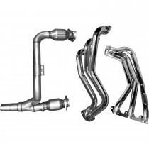 BBK Full-Length Headers with Y Pipe and High Flow Cats - Chrome 2007-11 (Jeep Wrangler) 4050