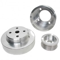 USED BBK Polished Aluminum Underdrive Pulleys (86-93 Mustang 5.0) 1553