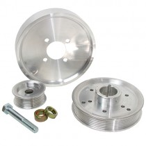 USED BBK Performance Billet Aluminum Underdrive Pulley Kit (Late 2001-04 Mustang 4.6) 1559-U