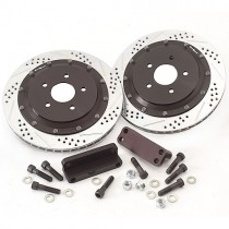11-12 Mustang GT Baer 14 inch Front Brake Upgrade Kit EradiSpeed Plus 2 piece Rotors
