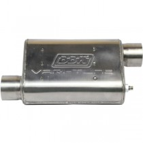 "BBK Varitune Adjustable Muffler - Stainless (2-1/2"" Offset/Offset) 31015"