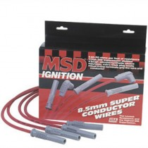 USED MSD 8.5mm Super Conductor Spark Plug Wires - Red (96-04 Mustang Cobra, Mach 1)