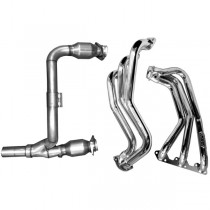 BBK Coated Long Tube Headers, Y-Pipe & Cats (07-11 Wrangler)