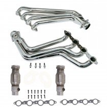 "BBK 1-7/8"" Chrome Long Tube Headers w/ Converters (10-15 Camaro SS)"