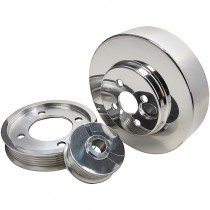 BBK Polished Aluminum Underdrive Pulley Kit (94-95 Mustang 5.0) 1554