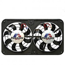 "1986-93 Mustang 5.0 Flex-a-Lite 12"" Slim Dual Puller Fan Kit"