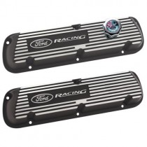 Ford Racing Logo Black Satin Valve Covers (1986-93 Mustang 5.0L) M-6000-J302R