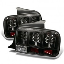 Spyder LED Tail Lights - Black (2005-09 Mustang) 5003546